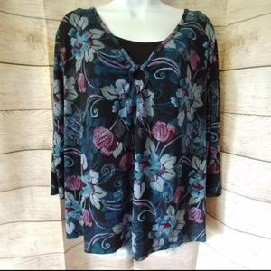 Croft and Barrow Floral Blouse